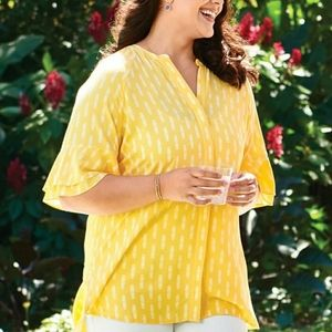 NWT! Matilda Jane Yellow Golden Hourglass Blouse